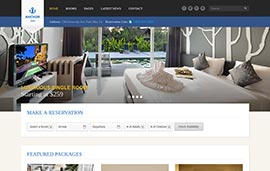 D11 - Website khách sạn 6 (Anchor hotel), web hotel, hotel anchor